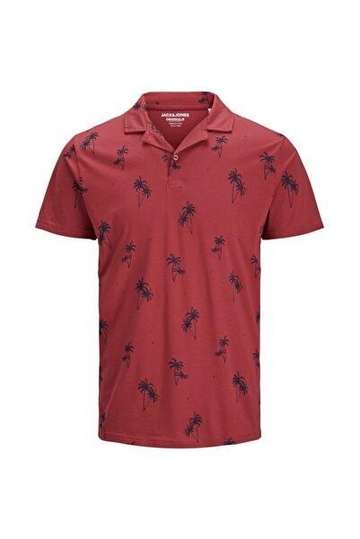 Jack & Jones Erkek Kırmızı Polo Yaka Tişört