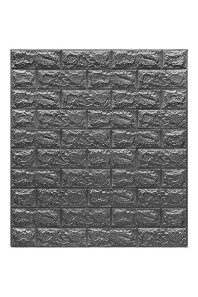RENKLİ EVİM Koyu Gri 3d Kendinden Yapışkanlı Duvar Kağıdı Duvar Paneli