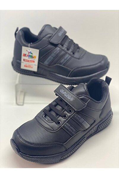 Arvento Çocuk Siyah Cırtlı Spor Ayakkabı