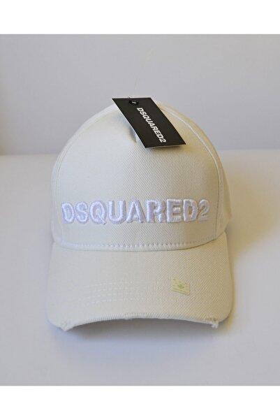 DSquared2 Beyaz Renk Unısex Beyaz Yazılı Şapka