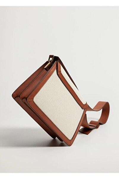 MANGO Woman Kontrast Kumaşlı Çanta
