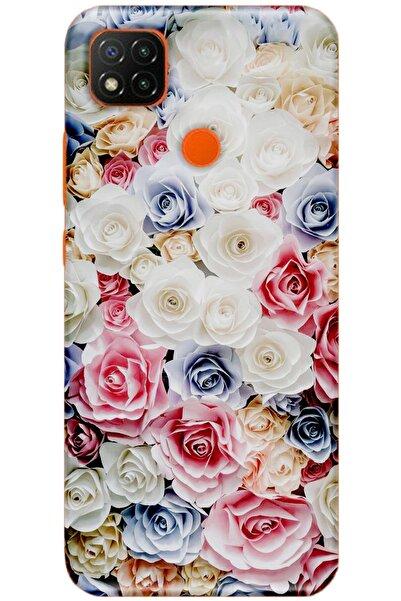 Turkiyecepaksesuar Xiaomi Redmi 9c Uyumlu Desenli Kılıf + Temperli Ekran Koruyucu Cam