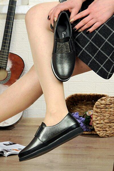 Pierre Cardin Deriland Park Kadın Grı Babet Ayakkabı Ortopedik