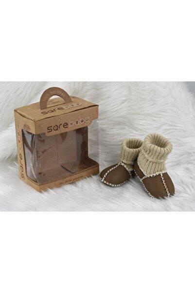 Sarebaby Bebek Organik Deri Patikli  Ayakkabı