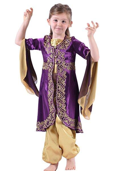 ceocuk Mor Çocuk Kaftan Bindallı Kına Elbisesi