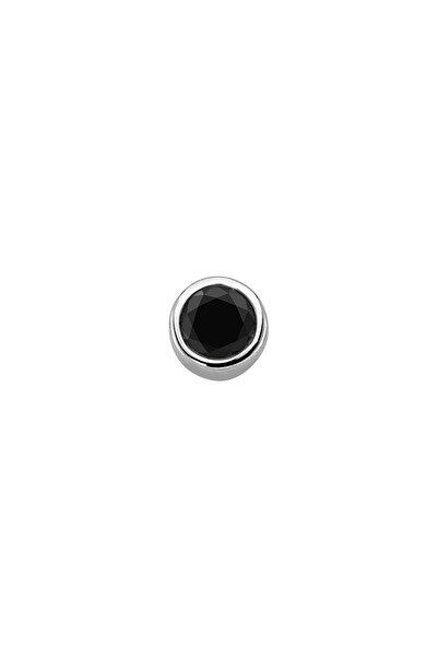 Sirius Pırlanta Erkek 0,14 Karat Siyah Pırlanta Tektaş Erkek Küpesi