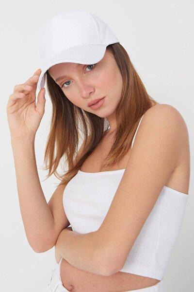 Addax Kadın Beyaz Unisex Şapka ŞPK1007 ADX-0000022027