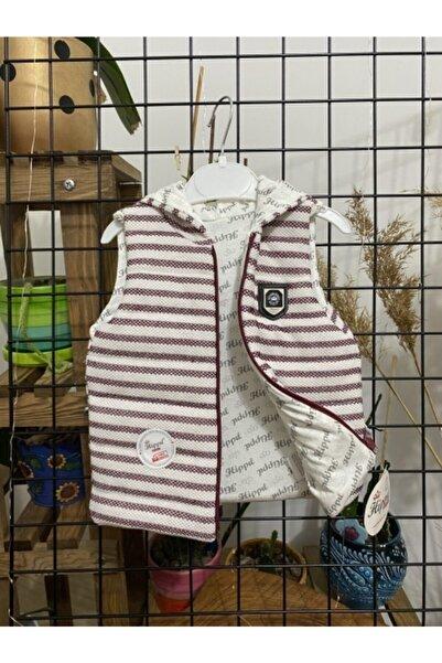Hippıl Baby Unisex Çocuk Bordo Yelek