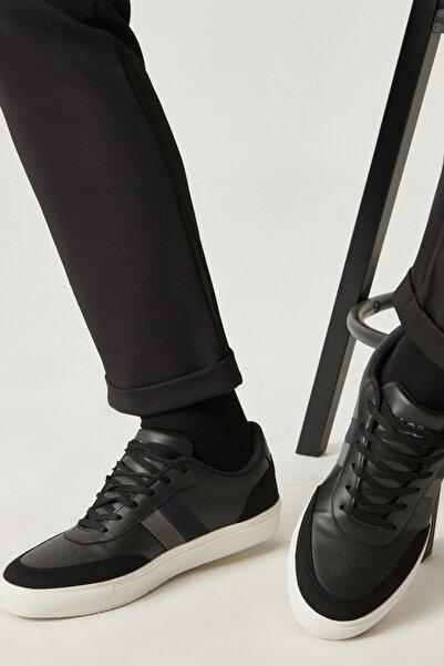 AC&Co / Altınyıldız Classics Erkek Siyah-Lacivert-Gri Casual Spor Sneaker Ayakkabı