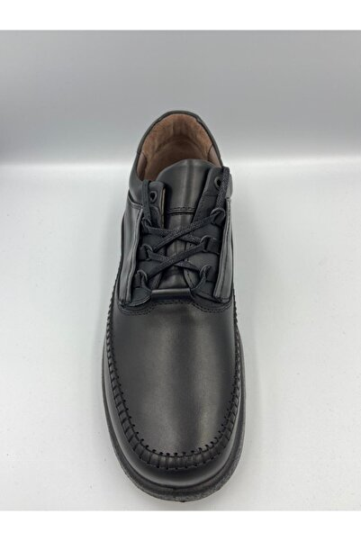 Esse Erkek Siyah Hakiki Deri Günlük Ayakkabı