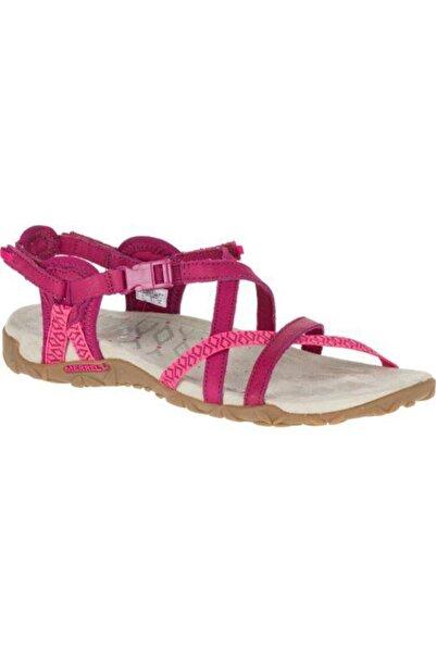 Merrell J55310 Fuşya Kadın Deri Sandalet 100223251