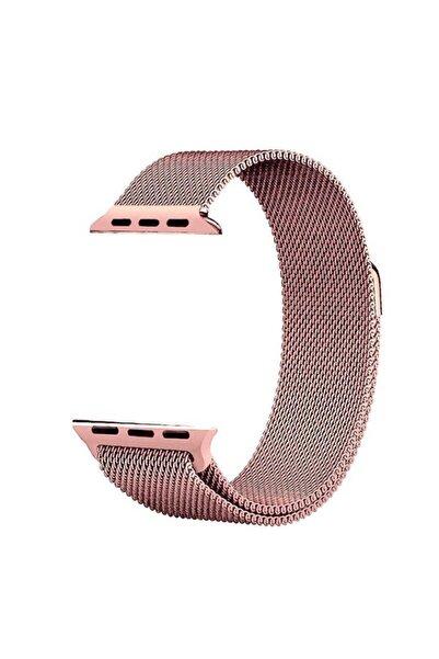Apple Watch Se Kordon Hasır Örgü Metal Işlemeli 40 Mm Krd-01