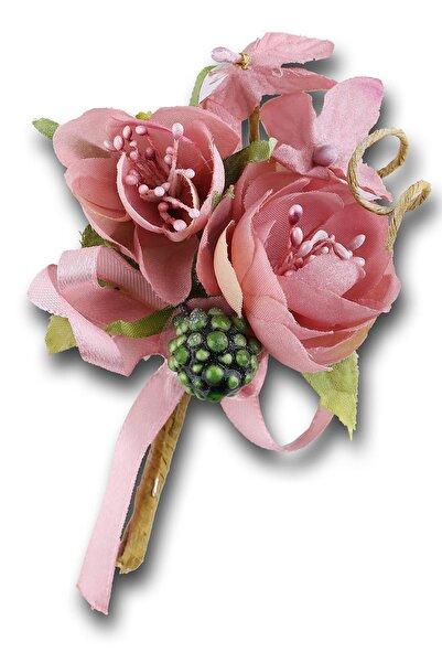 Kravatkolik Pudra Renk Damatlık Yaka Çiçeği Yc467