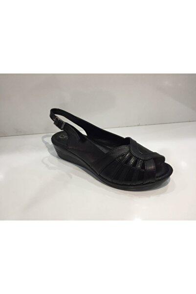 KORKMAZ Kadın Siyah Sandalet