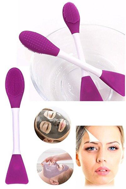 İndirimKap Maske Sürme Fırçası Ve Burun Siyah Nokta Temizleyici Peeling Fırçası Cilt Bakım Fırçası
