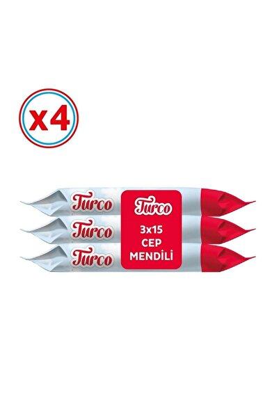 Baby Turco Cep Mendili 15 Yaprak - 12'li Paket