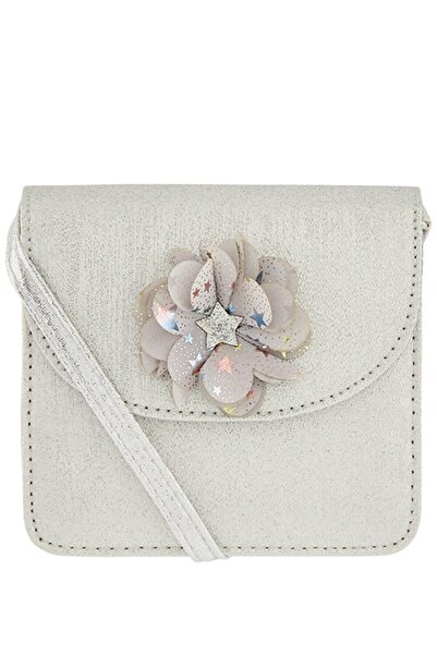 Accessorize Kadın Gümüş Simli Çiçek Buketli Çapraz Çanta