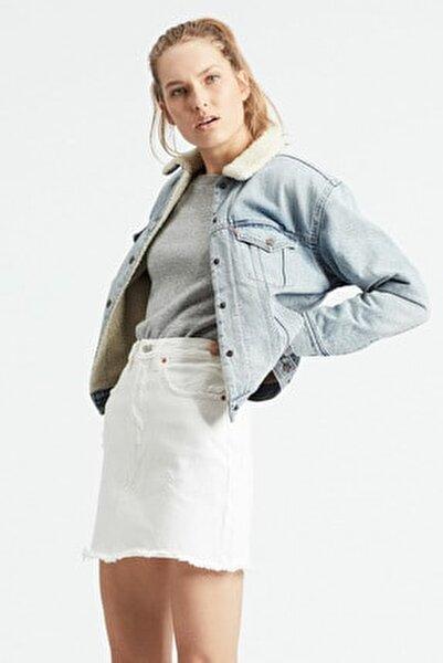 Kadın Mavi Jean Ceket