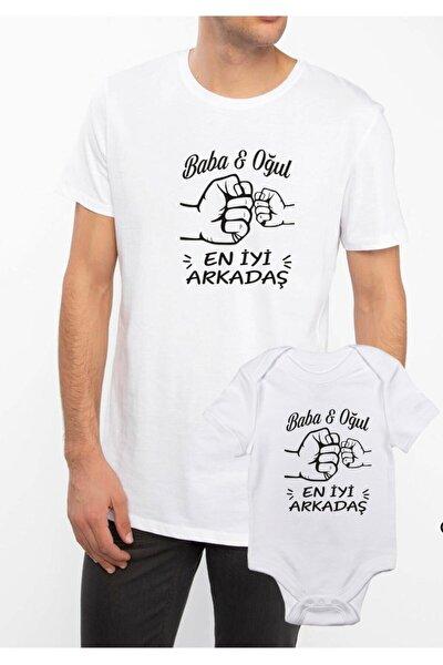 venüsdijital Baba Oğul En Iyi Arkadaş Beyaz Tshirt Zıbın (baba Oğul Kombin Yapılabilir Fiyatlar Ayrı Ayrıdır)