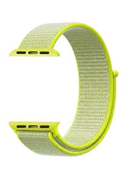 Neon Yeşil Apple Watch Dokuma Kordon Kayış - 38mm 40mm