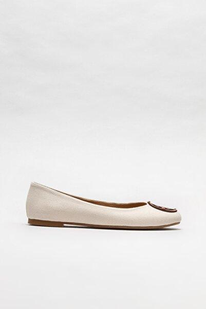Elle Shoes Kadın Bej Tokalı Babet