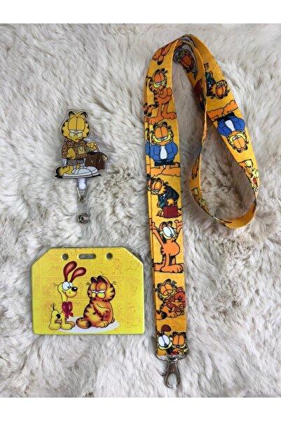 Hediyebum Garfield Boyun Askısı Yoyo Ve Yan Kartlık Set