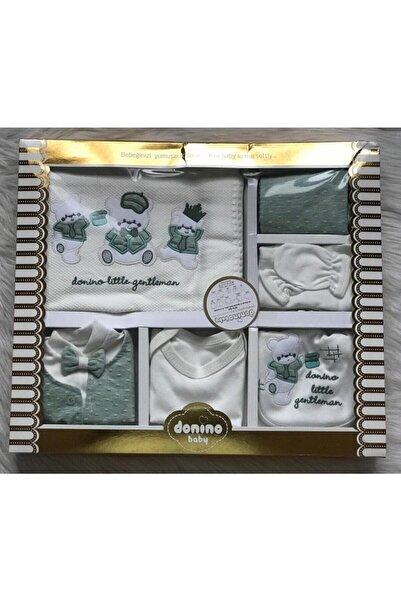 Donino Baby Donino Little Gentleman 3 Ayı Nakışlı Yeşil 10'lu Hastane Çıkış Seti