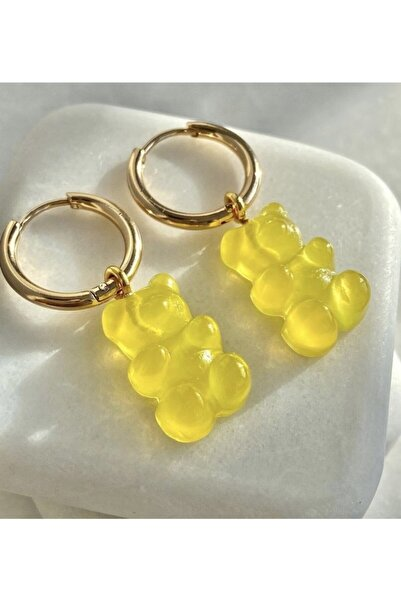 Accessorize Kadın Sarı Jelibon Küpe