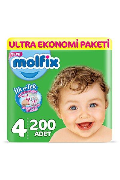 Molfix Bebek Bezi 4 Beden Maxi Ultra Ekonomi Paketi 200 Adet