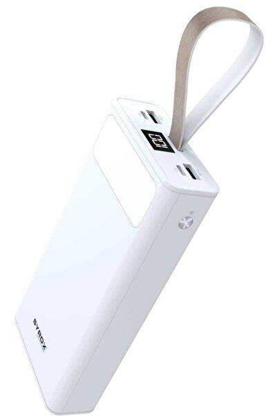Syrox 30.000 Mah Led Işıklı 2.çıkışlı Powerbank Yedek Batarya Beyaz Renk Pb115b
