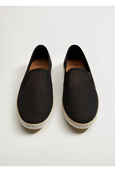 MANGO Man Erkek Siyah Sandalet