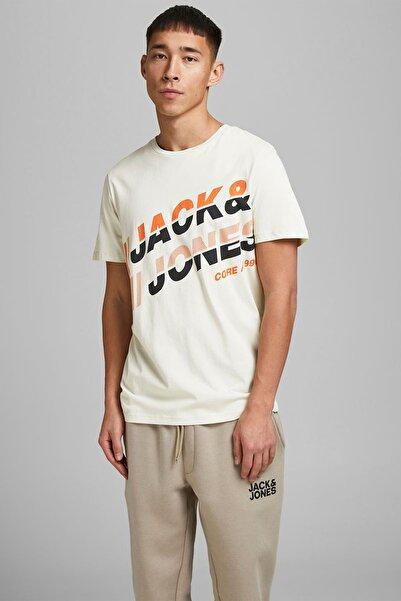 Jack & Jones Erkek Bej 0 Yaka Erkek Tshırt 12188038