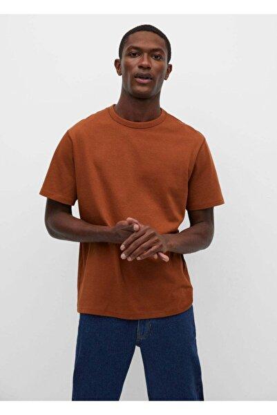 MANGO Man Relaxed Kesim Pamuklu Tişört