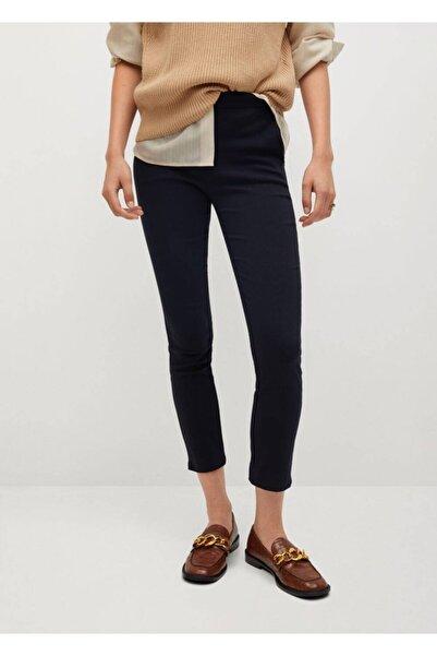 MANGO Woman Kadın Lacivert Kısa Paçalı Skinny Pantolon 77030533
