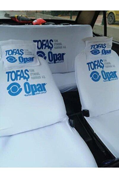 OPAR Tofaş Uyumlu Beyaz Servis Kılıfı ve Etiket