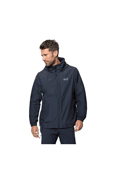 Jack Wolfskin Erkek Lacivert Stormy Point Jacket Outdoor Ceketi M