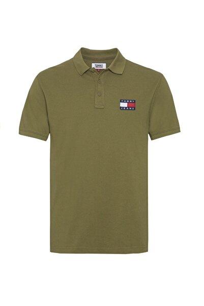 Tommy Hilfiger Erkek Badge Polo Yaka T-shirt Dm0dm07456 Haki