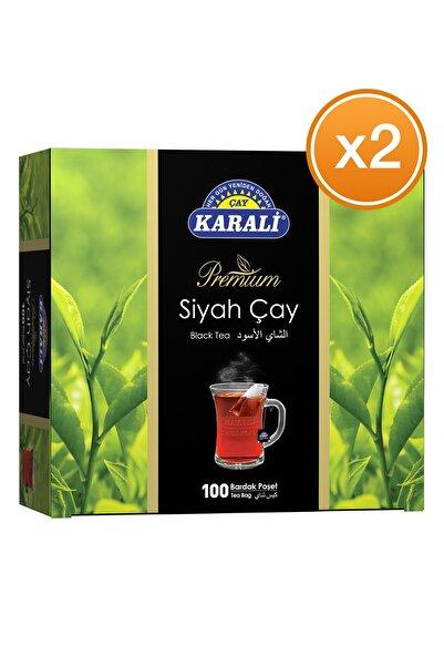 Karali Çay Karali Premium Bardak Poşet Siyah Çay 100'lü X 2 Adet
