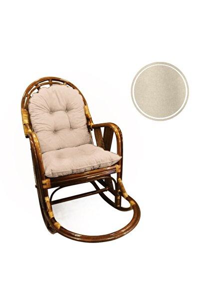 enesmefrusat 4'lü Bambu Ve Bahçe Sandalyeleri Için Sırt Ve Oturma Minderi Takımı