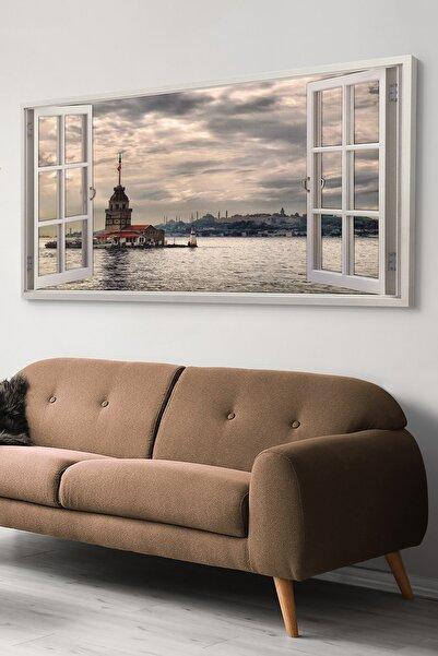 Evinemoda Kız Kulesine Açılan Pencere Kanvas-canvas Tablo