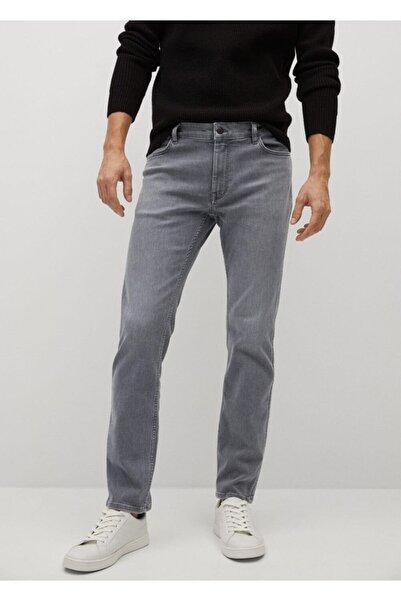 MANGO Man Erkek Gri Dar Kesimli Ultra Soft Touch Patrick Jean Pantolon