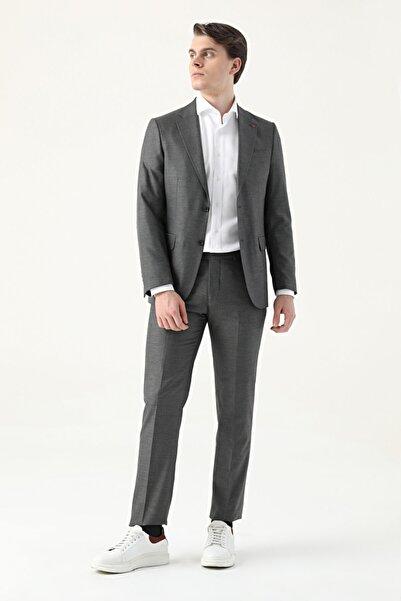 D'S Damat Slim Fit Antrasit Takım Elbise