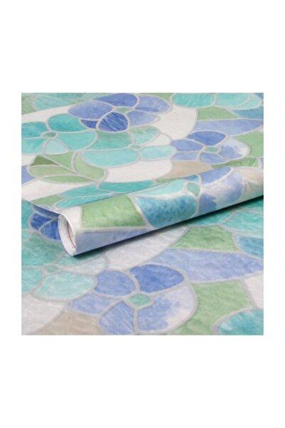 d-c-fix 346-2665 Mavi Çiçekli Cam Vitray Folyo Kendinden Yapışkanlı