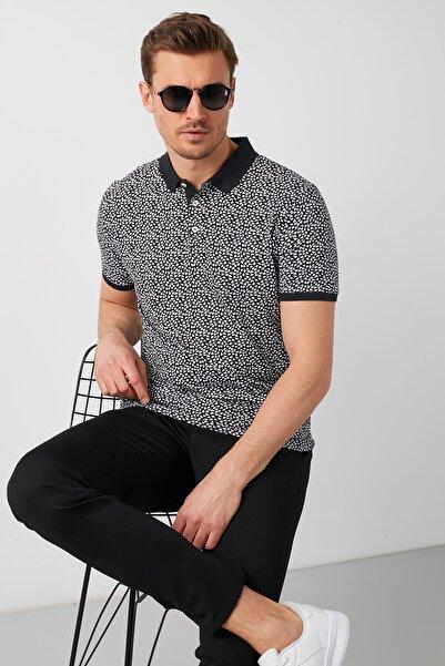 Buratti Erkek Siyah Desenli Polo Yaka T Shirt