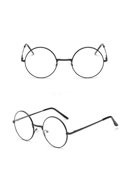 Retro Yuvarlak Gözlük Şeffaf Gözlük