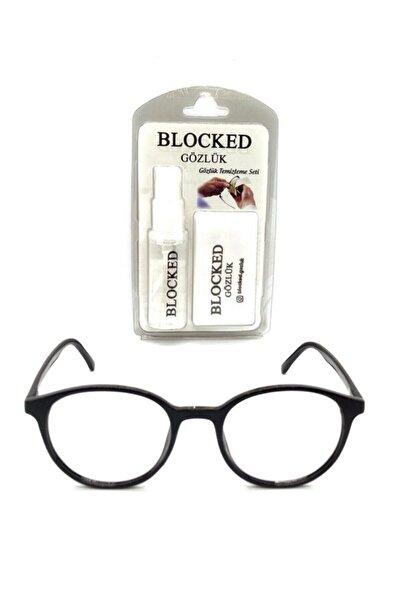BLOCKED Numarasız Dinlendirici Mavi Işık Engelleme Gözlük Bilgisayar Gözlükleri Uv400