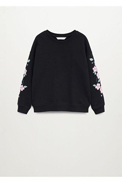 MANGO Kids Kolları Işlemeli Sweatshirt