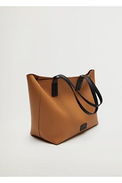 MANGO Woman Pürtüklü Shopper Çanta