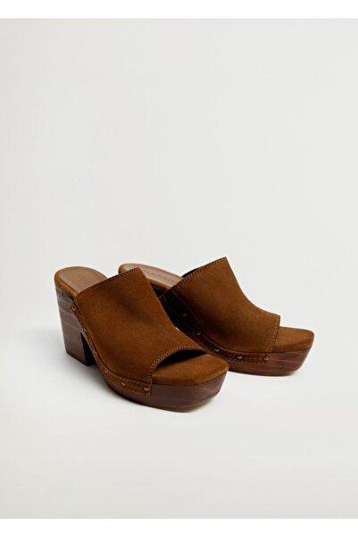 MANGO Woman Deri Topuklu Terlik