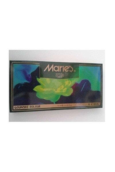 Maries Tüplü Guaj Boya 12 Renk (12x12 Ml.)